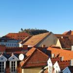 Sicht auf Schlossberg von der Penthouse-Maisonette